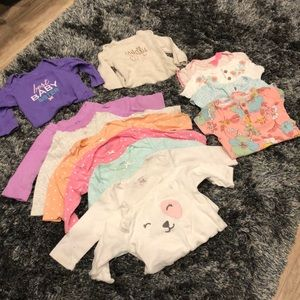 13 baby girl onsie lot - 6 MO